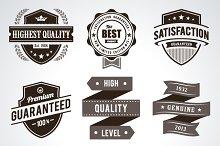Retro Badges/Labels Set