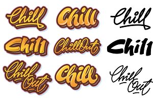 Chill & Chill out letterings