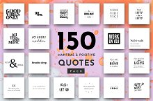 Positive Quotes: 150 Quote Pack