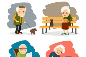 Retirement old people