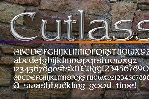 Peace tree & a sharp font: Cutlass