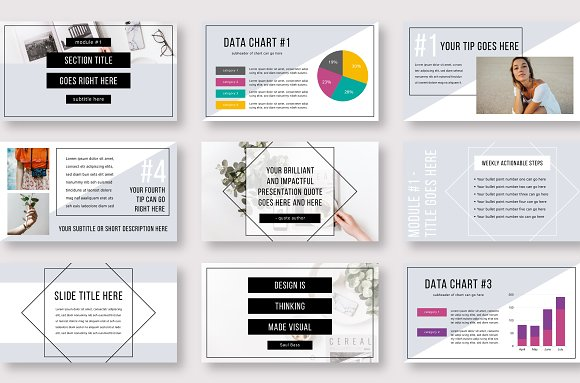 eCourse Slide Deck Template in Keynote Templates - product preview 4
