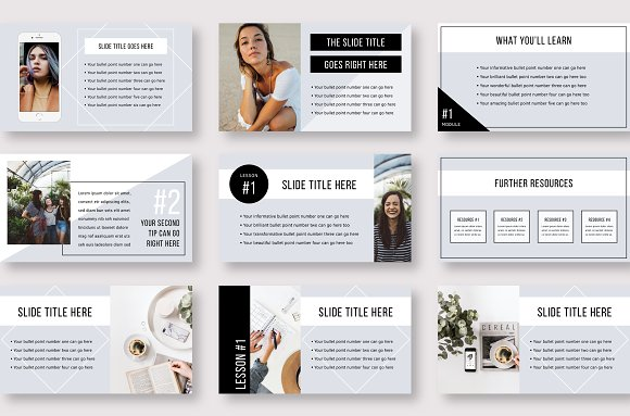 eCourse Slide Deck Template in Keynote Templates - product preview 6