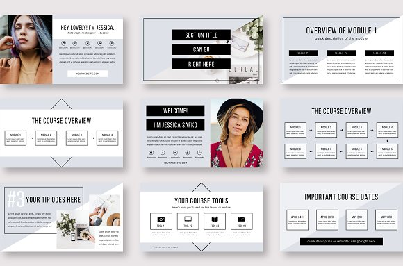 eCourse Slide Deck Template in Keynote Templates - product preview 7