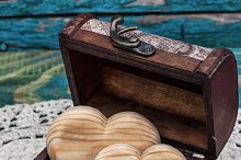 vintage chest wooden hearts inside