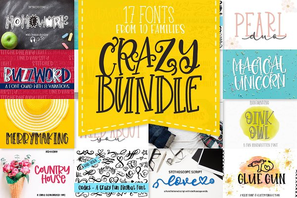My Favorite Fonts Bundle! 17 Fonts!