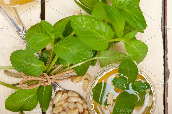 Arab middle east mint tea and pine nuts 011.jpg - Food & Drink