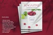 Magenta Magazine Layout