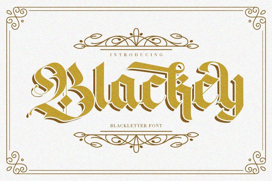 Blackey Blackletter Font