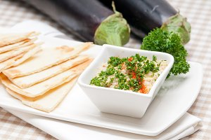 Baba Ghanoush eggplant dip and pita bread 16.jpg