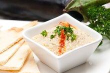 Baba Ghanoush eggplant dip and pita bread 24.jpg