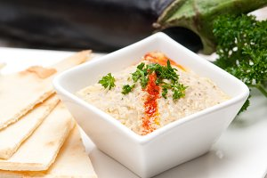 Baba Ghanoush eggplant dip and pita bread 24.jpg