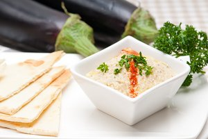 Baba Ghanoush eggplant dip and pita bread 17.jpg
