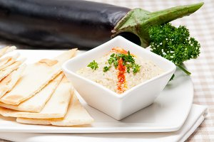 Baba Ghanoush eggplant dip and pita bread 23.jpg