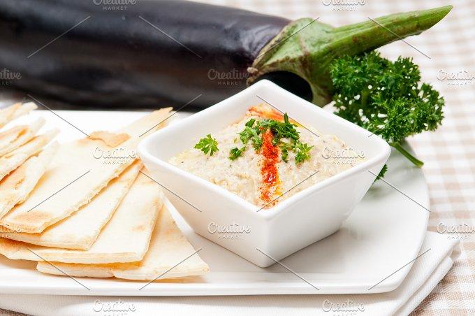 Baba Ghanoush eggplant dip and pita bread 23.jpg - Food & Drink