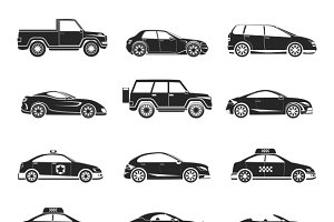 Car icons set