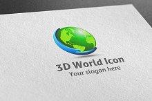 3D World Icon Logo