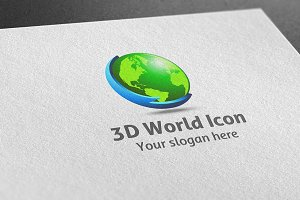 3D World Icon Logo