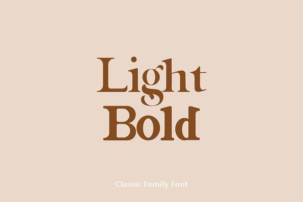 Best Magazine Family Font Vector