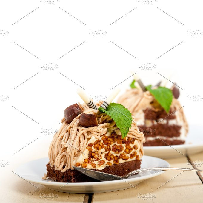 chestnut cream cake dessert 001.jpg - Food & Drink