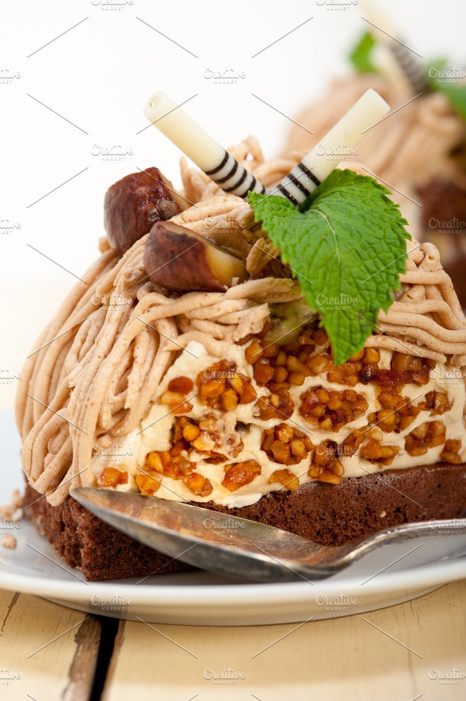chestnut cream cake dessert 012.jpg - Food & Drink