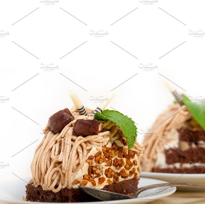 chestnut cream cake dessert 024.jpg - Food & Drink