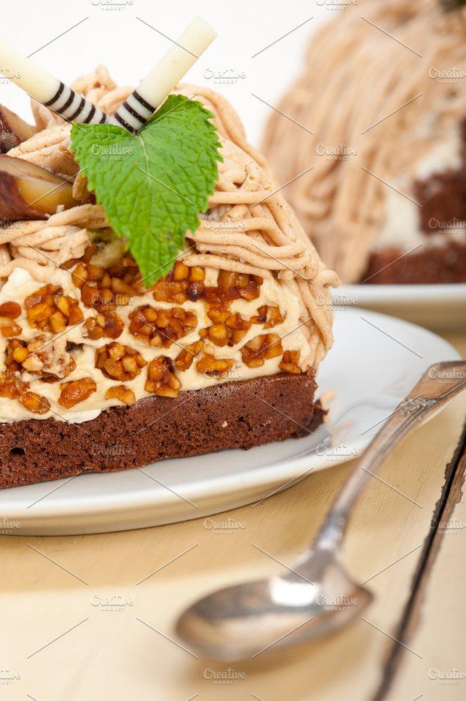 chestnut cream cake dessert 041.jpg - Food & Drink