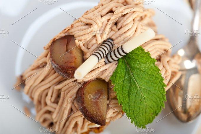 chestnut cream cake dessert 050.jpg - Food & Drink