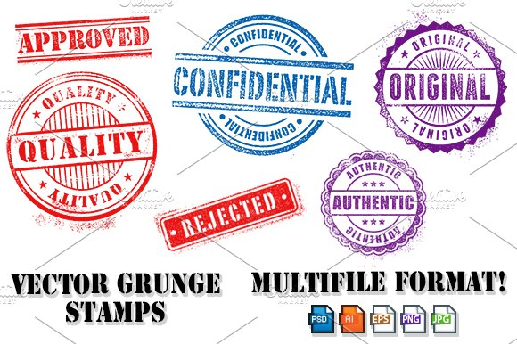 Grunge Commercial Vector Stamps