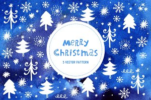 Merry Christmas vector pattern