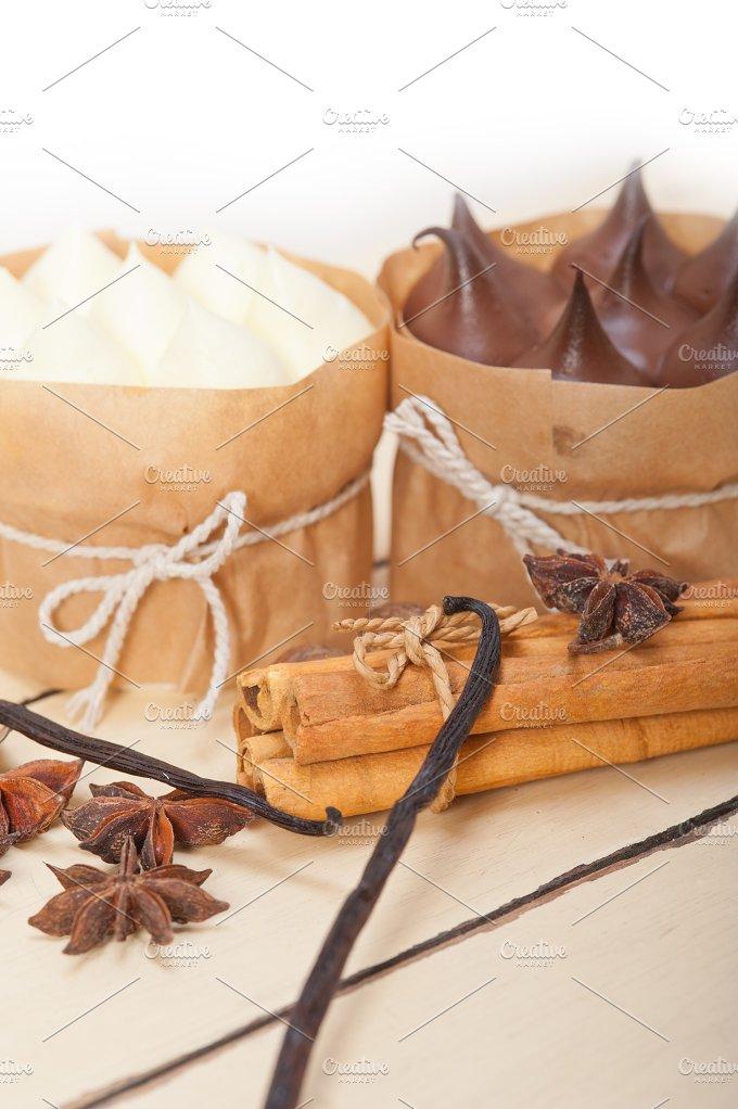 chocolate vanilla and spice cream cake dessert 065.jpg - Food & Drink