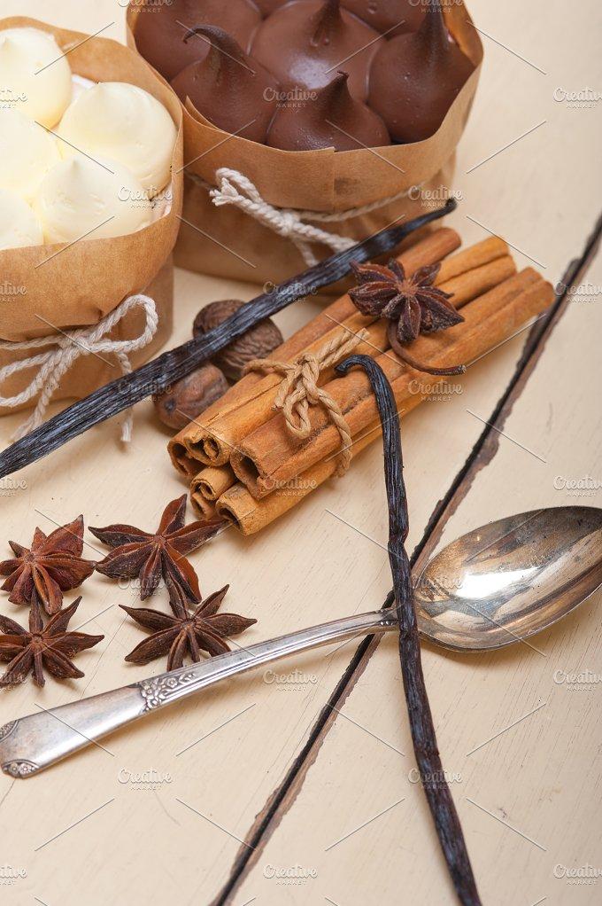 chocolate vanilla and spice cream cake dessert 071.jpg - Food & Drink