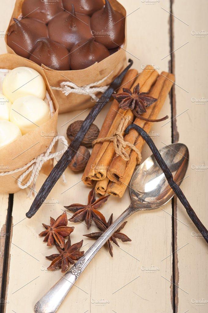 chocolate vanilla and spice cream cake dessert 073.jpg - Food & Drink