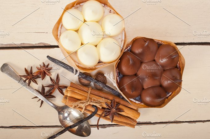 chocolate vanilla and spice cream cake dessert 074.jpg - Food & Drink