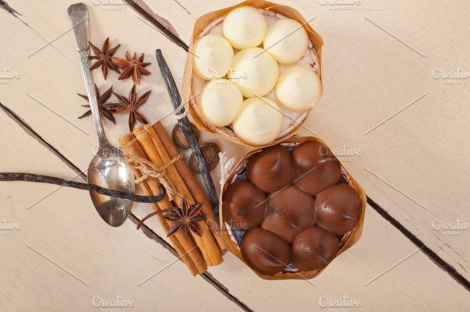 chocolate vanilla and spice cream cake dessert 078.jpg - Food & Drink