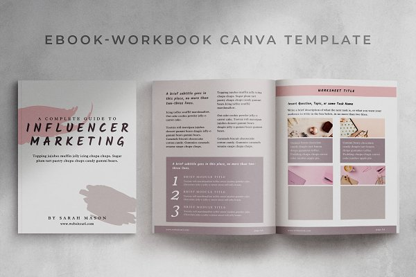 Workbook/eBook Canva Template | Sand