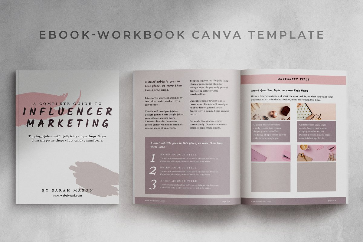Workbook/eBook Canva Template | Sand in Magazine Templates - product preview 8