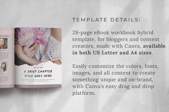 Workbook/eBook Canva Template | Sand in Magazine Templates - product preview 1