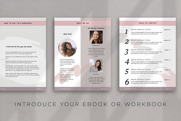 Workbook/eBook Canva Template | Sand in Magazine Templates - product preview 3