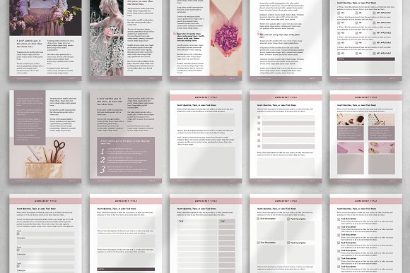 Workbook/eBook Canva Template | Sand in Magazine Templates - product preview 5