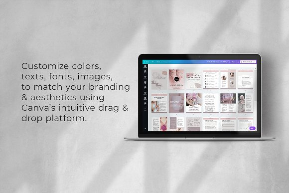 Workbook/eBook Canva Template | Sand in Magazine Templates - product preview 9