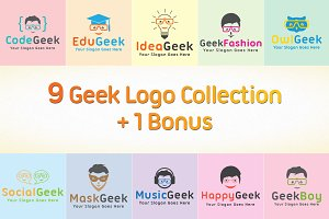 9 Geek Logo Collection + 1 Bonus