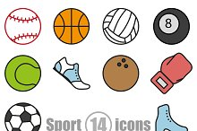Sport set of 14 icons