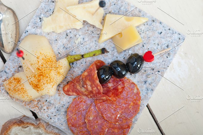 cold cut snack on stone 004.jpg - Food & Drink
