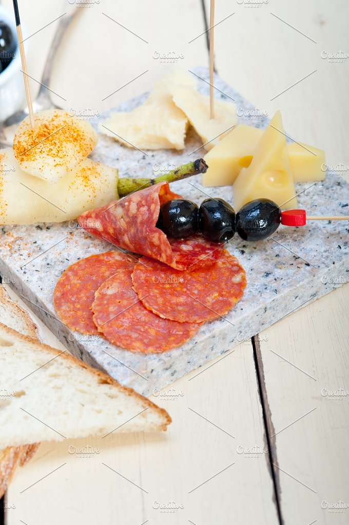 cold cut snack on stone 010.jpg - Food & Drink