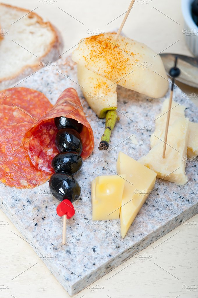 cold cut snack on stone 019.jpg - Food & Drink