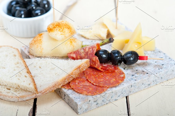 cold cut snack on stone 022.jpg - Food & Drink