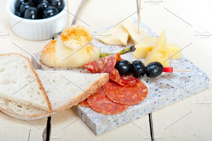 cold cut snack on stone 023.jpg - Food & Drink
