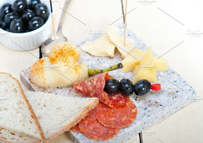 cold cut snack on stone 024.jpg - Food & Drink