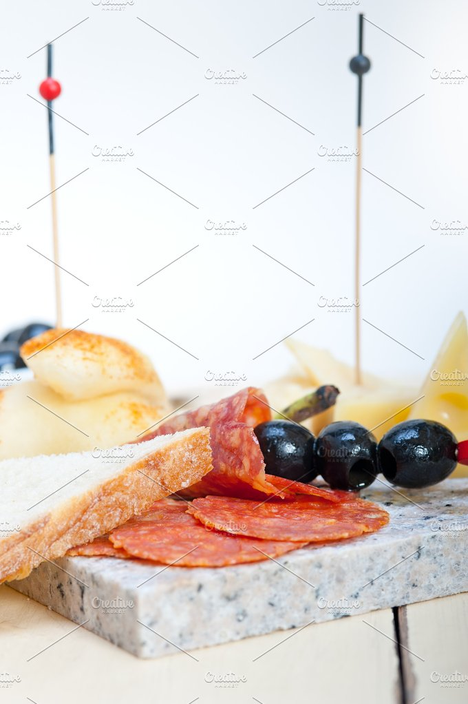 cold cut snack on stone 025.jpg - Food & Drink